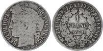 France 1 Franc Ceres - Gouvernement National -1871 A Paris