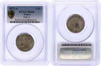 France 1 Franc Ceres - III e Republic - 1872 A Paris - PCGS MS 64