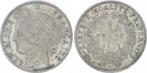 France 1 Franc Ceres - III e Republique - 1872 A Paris