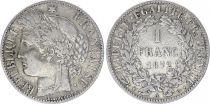 France 1 Franc Ceres - III e Republique - 1872 A Paris