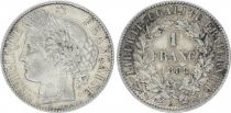 France 1 Franc Ceres - III e Republique - 1888 A Paris