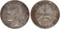 France 1 Franc Ceres - III e Republique - 1888 A Paris