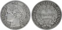 France 1 Franc Ceres - III e Republique - 1894 A Paris