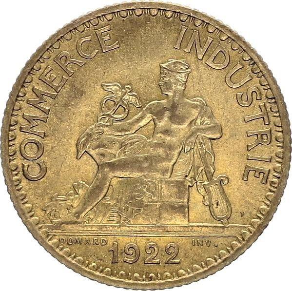 Pi ce france 1 franc chambre de commerce 1922 for Chambre de commerce des bois francs
