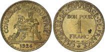 France 1 Franc Chambre de Commerce - 1924 ouvert