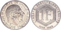 France 1 Franc Charles de Gaulle 1958-1988 -  WITHOUT MINTMARK - VF