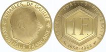 France 1 Franc Charles de Gaulle 1958-1988 - Or