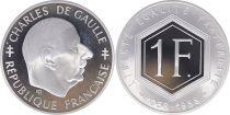 France 1 Franc Charles de Gaulle 1958-1988 - Silver