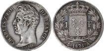 France 1 Franc Charles X - 1825 A Paris Argent