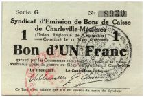 France 1 Franc Charleville-Mézières City - 1916