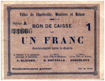 France 1 Franc Charleville-Mézières-Mohon Cities - Charleville, Mézières et Mohon - 1915