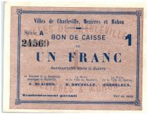 France 1 Franc Charleville-Mézières-Mohon Cities - Charleville, Mézières et Mohon - 1915