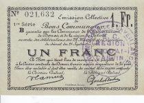 France 1 Franc Douai City - 1916