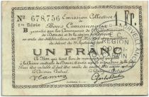 France 1 Franc Douai Commune - 1914