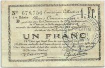 France 1 Franc Douai Commune - 1914