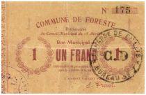 France 1 Franc Foreste City - 1915