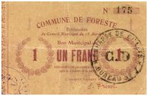 France 1 Franc Foreste Commune - 1915