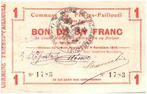 France 1 Franc Frieres-Faillouel City - 1915