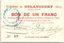 France 1 Franc Golancourt Commune