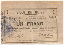 France 1 Franc Guise Ville - 1915