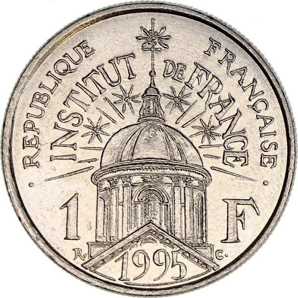 France 1 Franc Institut de France - 1995