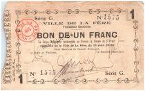 France 1 Franc La-Fère Ville - 1915