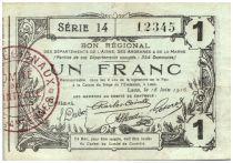 France 1 Franc Laon Régional - 1916