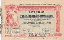 France 1 Franc Loterie Allaitement Maternel - 1905 - TTB