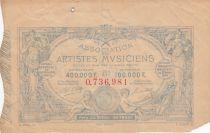 France 1 Franc Loterie Association des Musiciens- 1884 - VF