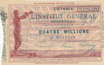 France 1 Franc Loterie Institut Général Psychologique - 1906 - VF