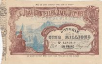 France 1 Franc Loterie La Dentelle au Foyer - 1906 - TTB