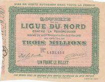 France 1 Franc Loterie Ligue du Nord contre la Tuberculose - 1903 - TTB