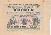 France 1 Franc Loterie Mutualité Maternelle - 1905 - TTB