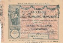 France 1 Franc Loterie Mutualité Maternelle - 1905 - VF