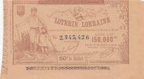 France 1 Franc Loterie Palais de Lorraine - 1884 - AU - n° 2.345.426