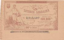 France 1 Franc Loterie Palais de Lorraine - 1884 - AU
