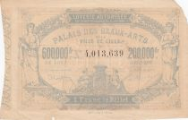 France 1 Franc Loterie Palais des Beaux-Arts de Lille - 1882 - TTB