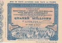 France 1 Franc Loterie Santorium de St Pol sur Mer - 1905 - VF