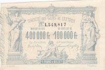 France 1 Franc Loterie Société des gens de Lettres - 1882 - XF