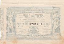 France 1 Franc Loterie Ville d\'Amiens- 1882 - VF