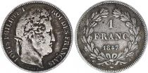 France 1 Franc Louis-Philippe 1847 A Paris Argent