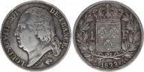 France 1 Franc Louis XVIII - 1822 A Paris - Argent