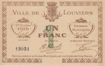 France 1 Franc Louviers Emission Municipale