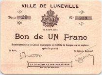 France 1 Franc Lunéville City