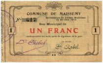 France 1 Franc Maissemy City - 1915