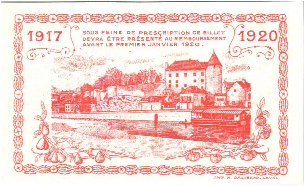 France 1 Franc Mayenne City - 1917