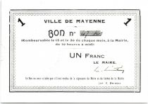 France 1 Franc Mayenne City