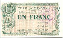 France 1 Franc Mayenne Ville - 1917