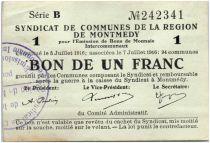 France 1 Franc Montmédy S. des communes