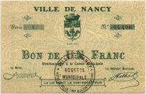 France 1 Franc Nancy City - 1916